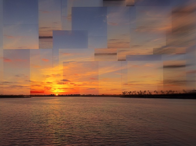 Puzzling sunset-MIssion Bay