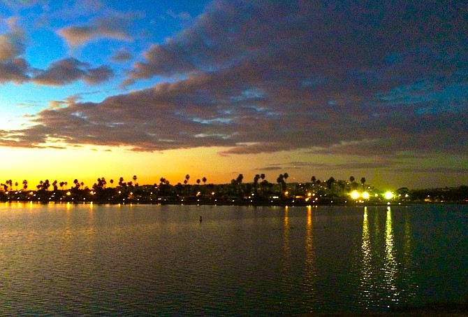 Reflections at sunset-De Anza Cove