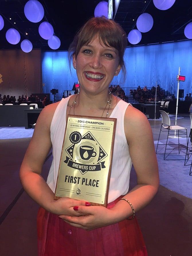 Sarah Anderson, intelligentsia Coffee, 2015 U.S. Brewer's Cup Champion