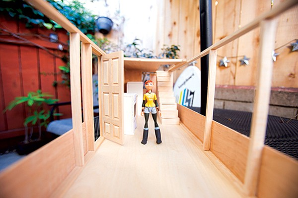 Architectural model of Jill Dickens's tiny house. It is currently under construction in Northern California.