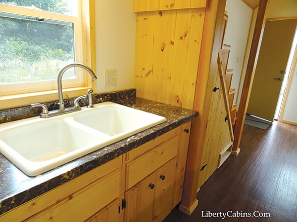 Jill Dickens settled on a tiny house from Liberty Cabins of Crescent City, CA.
