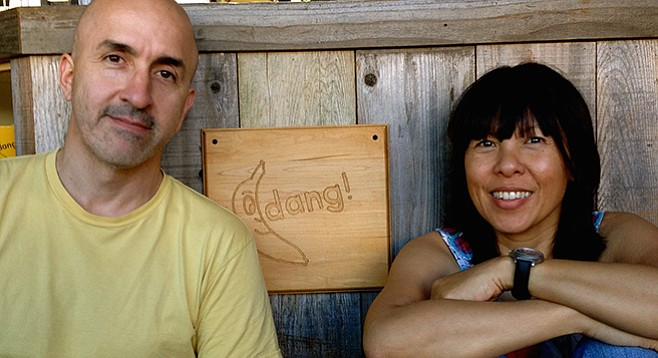 Mario Jimenez and Thanh-Thanh Dang had a coffee shop in Puerto Rico; they traded it for Banana Dang in Oceanside.