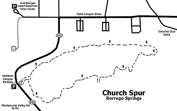 Church Spur trail map