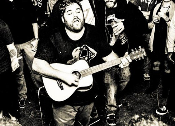 Folk-rapper Ceschi Ramos sets up at Soda Bar on Tuesday.