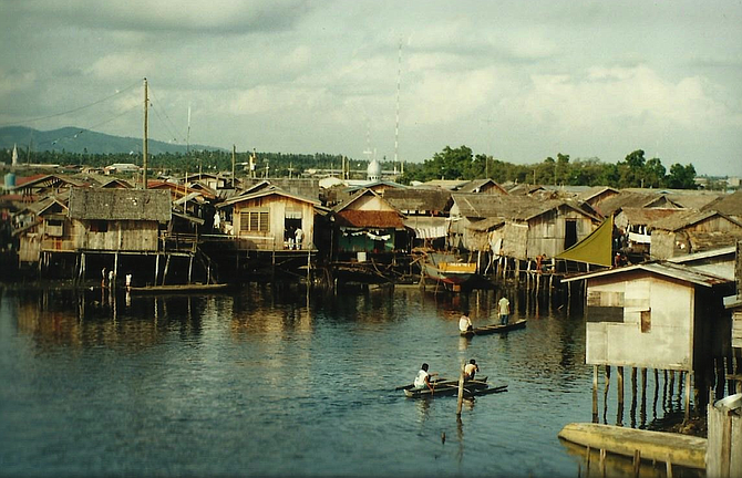 The waterfront in Bongao, Tawi-Tawi's main port and capital.