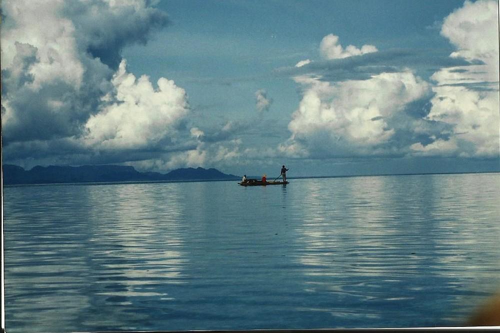 Bajao boat off the coast of Bongao.