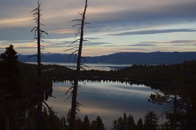 Overlooking the lake under Cascade Falls, South Lake Tahoe