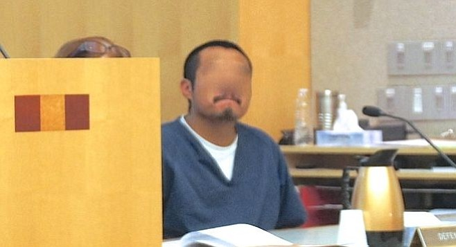 The judge ordered Juan Roldan's face obscured for media reports.