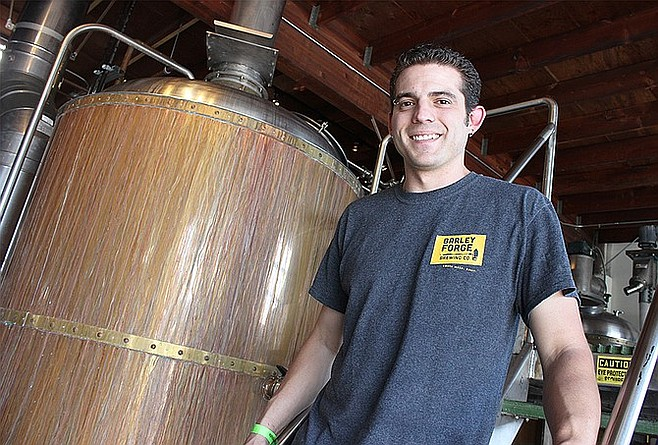 Former San Diego County brewer Kevin Buckley at his new Costa Mesa brewery, Barley Forge Brewing Co.