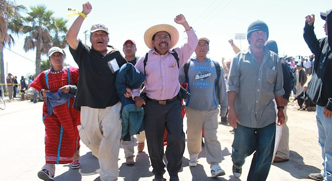 San Quintín's farm workers make about $6 per 12-hour day.