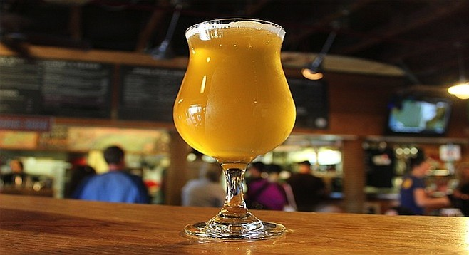 Pizza Port Solana Beach's Saisian Persuasion Asian-inspired Belgian-style - Image by @sdbeernews