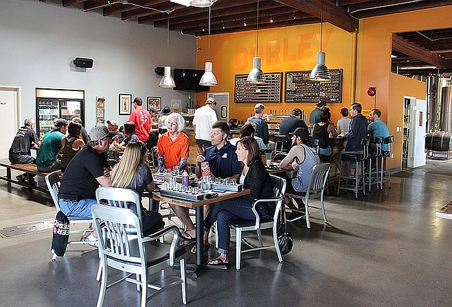 The tasting room at Barley Forge Brewing Co. in Costa Mesa