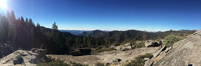 Panorama from Beetle Rock, a short hike from the Giant Forest Museum.