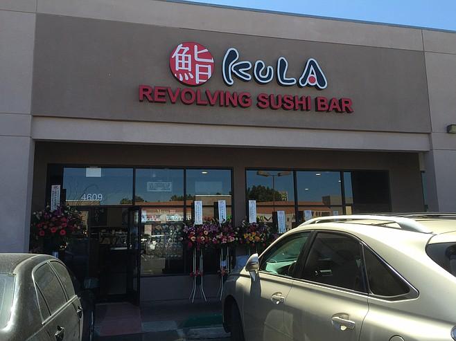KULA Revolving Sushi Bar, in good company at a strip mall on Convoy