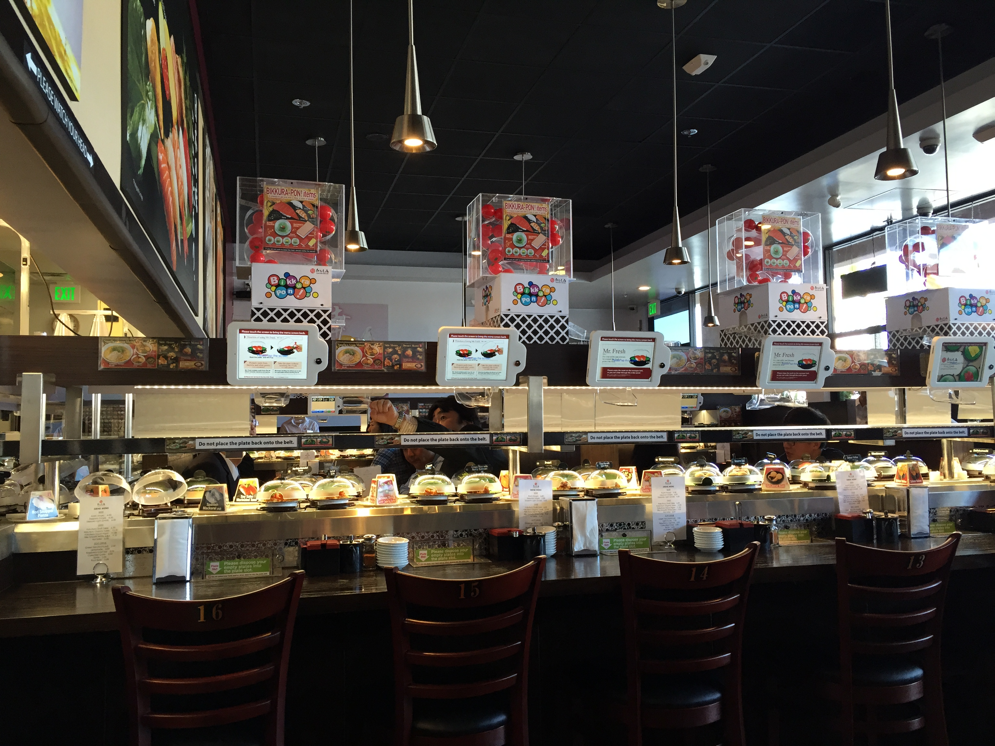 Interior of KULA Revolving Sushi
