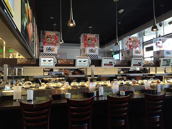 Interior of KULA Revolving Sushi