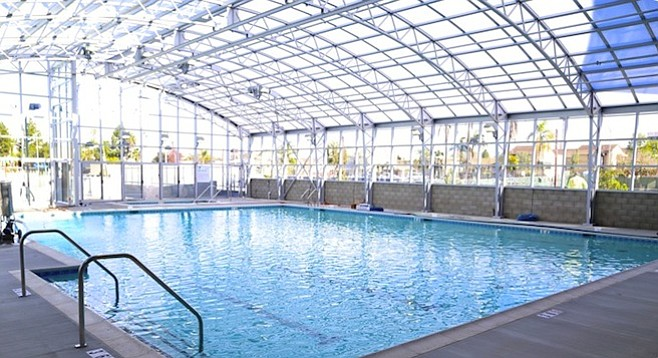 New indoor pool at the Copley-Price Family YMCA