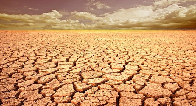 California in five years? Good chance of such a drought.