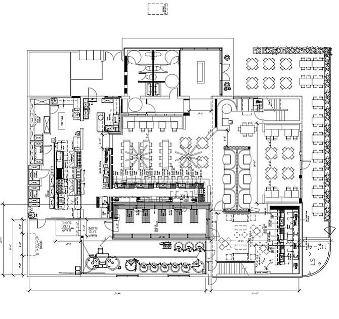 Urge's floor plan for their Oceanside gastropub