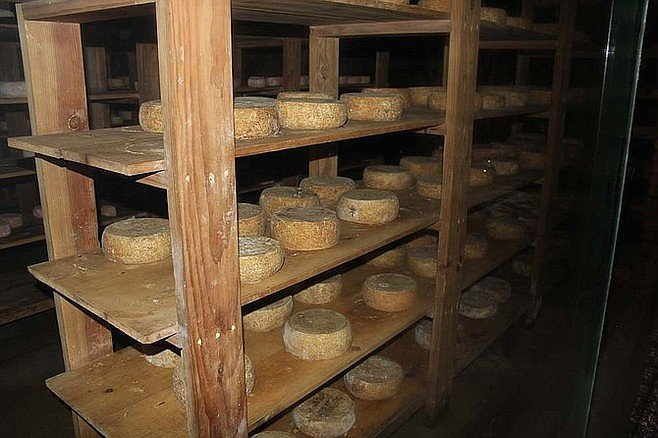 La Cava De Marcelo's cheese cellar.