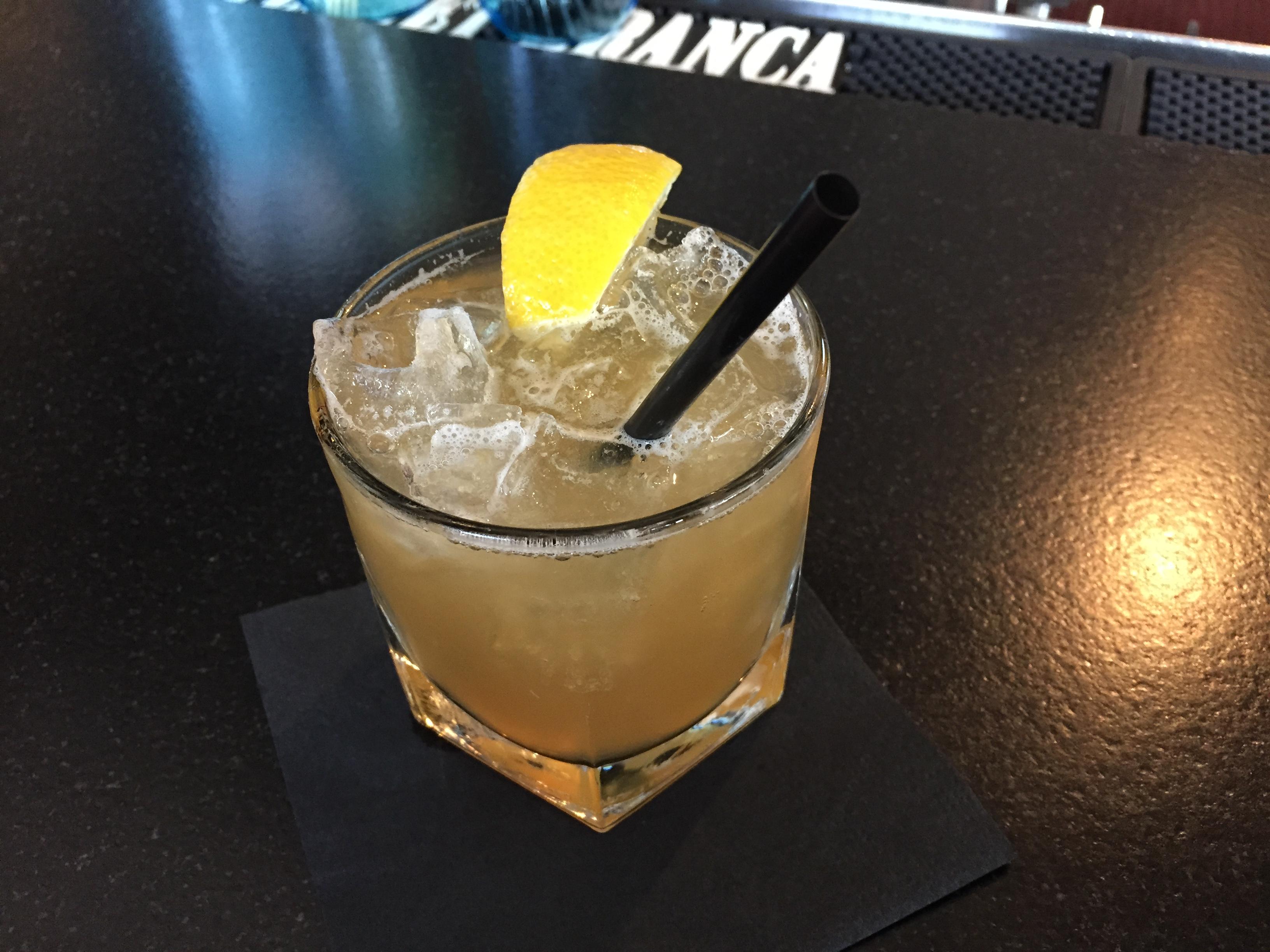 Honey Badger cocktail: too much lemon juice, not enough honey or rye