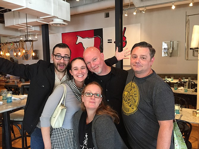 Brunch crew! From L to R, Jordan, Katie, Kimberly, David, and Shawn
