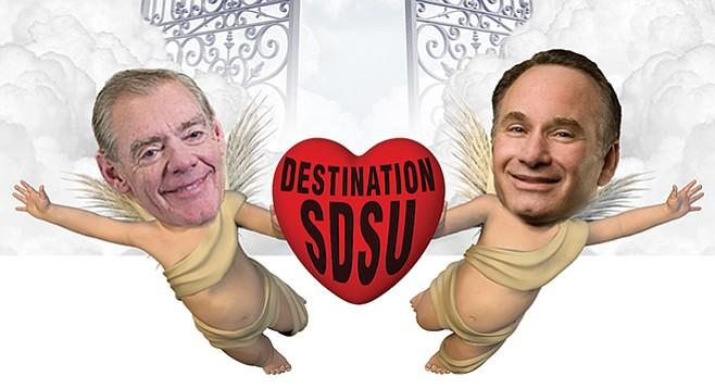 Jack McGrory and Elliot Hirshman are on a mission to let you know when you've arrived at San Diego State.