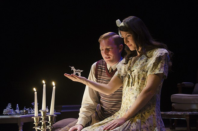 Amanda Sitton as Laura in The Glass Menagerie at Cygnet Theatre.