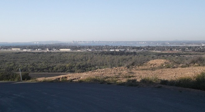 A view of el norte from Tijuana River Valley