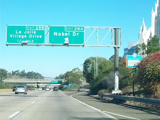 Interstate 5 North near the Mormon Temple in UTC.