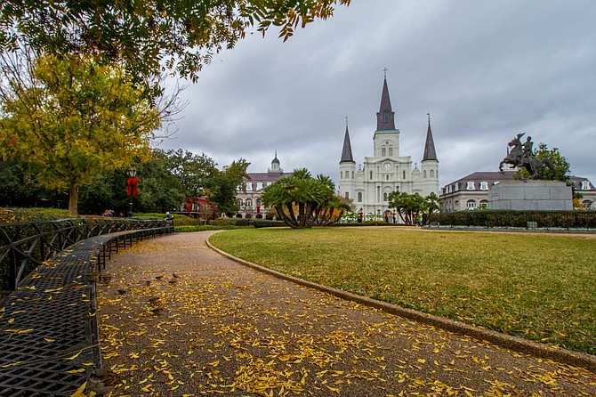 Jackson Square in the fall  in New Orleans, LA