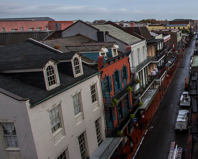 Bourbon Street after the sunrise chases all the drunk zombies back to their lairs.  New Orleans, LA