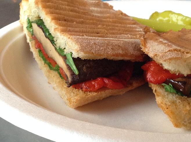 Veggie panini closer up