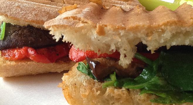 The Quartyard Bar's veggie panini