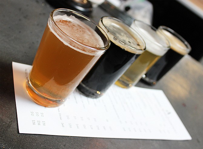 The opening line-up of brews at Rancho Bernardo's Abnormal Beer Co. (photo by @sdbeernews)