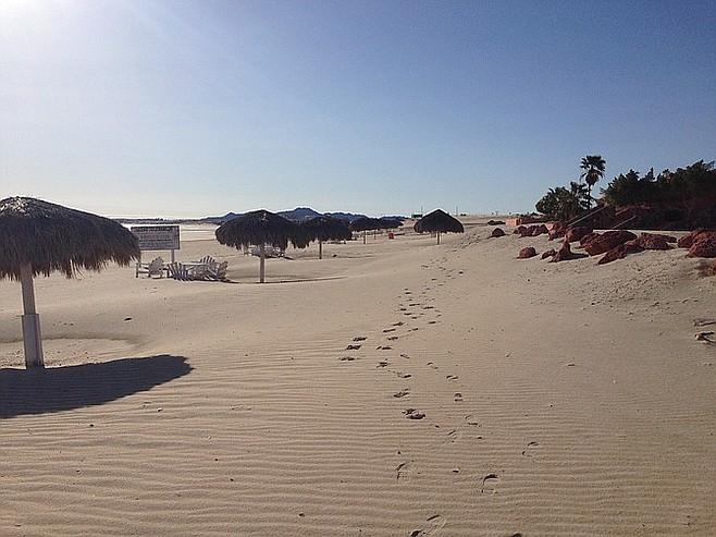 Beach at the San Felipe Marina Resort.