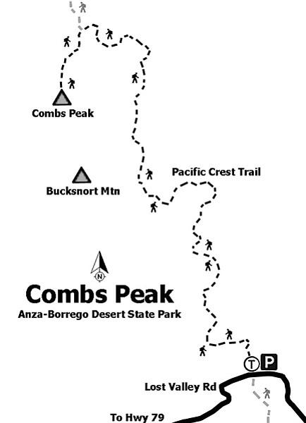 Combs Peak trail map