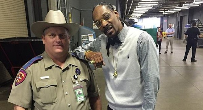 """Me n my deputy dogg,"" wrote Snoop Dogg on his Instagram site"