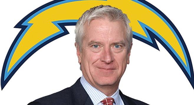 Mark Fabiani raked in $40,000 from the Chargers during the first three months of this year.