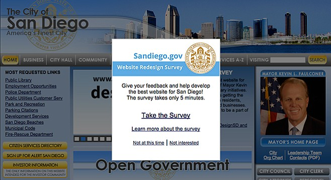 Calling all hands:  Sandiego.gov needs some redesigning