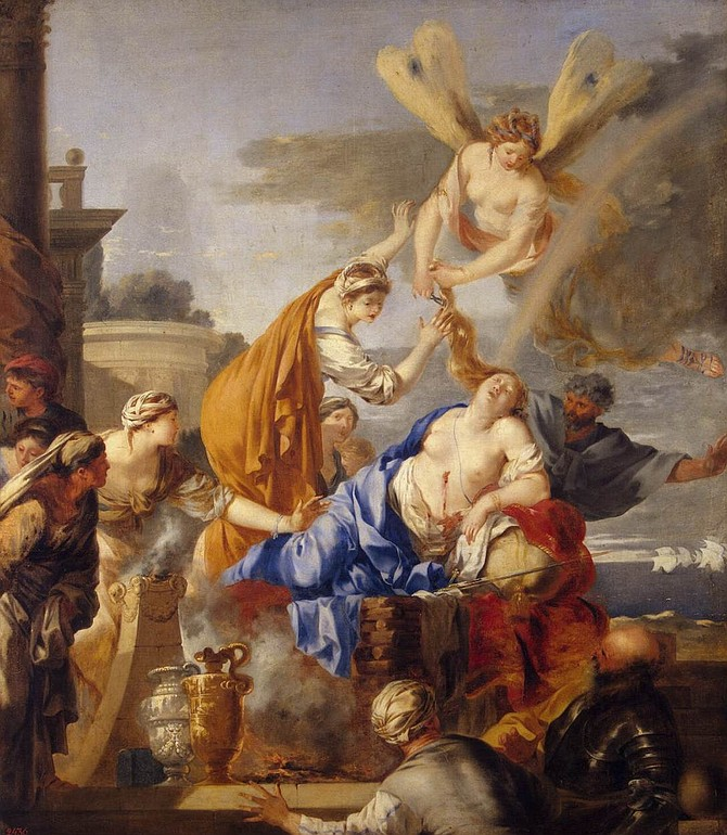 Death of Dido by BOURDON