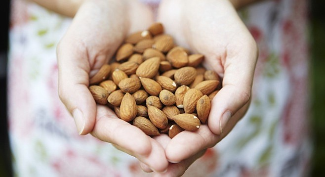 Each almond takes a gallon of water to produce
