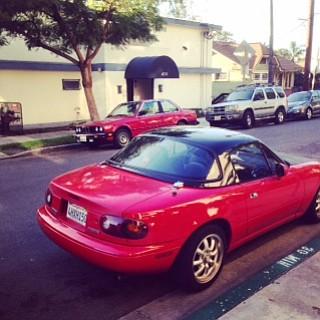 Sunday: car still parked.