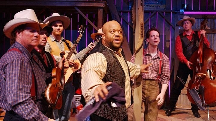 Mark Christopher Lawrence in Cotton Patch Gospel at Lamb's Players