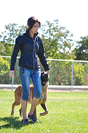 Stephanie O'Brien specializes in training aggressive dogs.