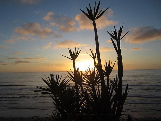 Taking in the Baja sunset.
