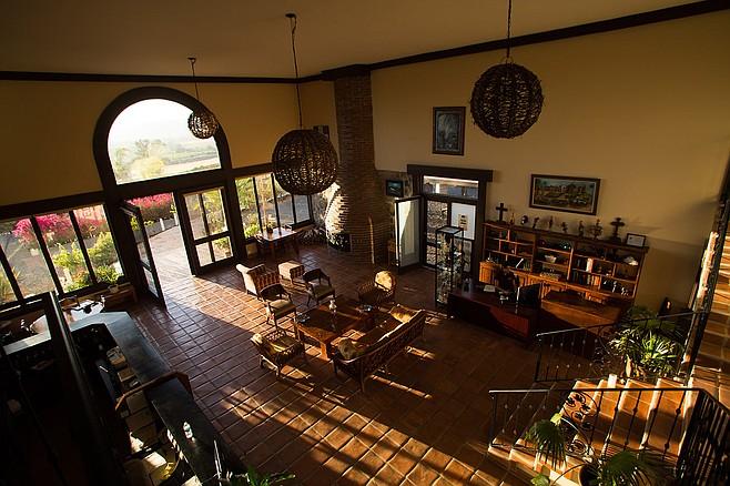 Interior of mission-style Hacienda Guadalupe. (photo: Hacienda Guadalupe)