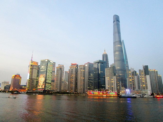 Early evening view from the Bund, Shanghai