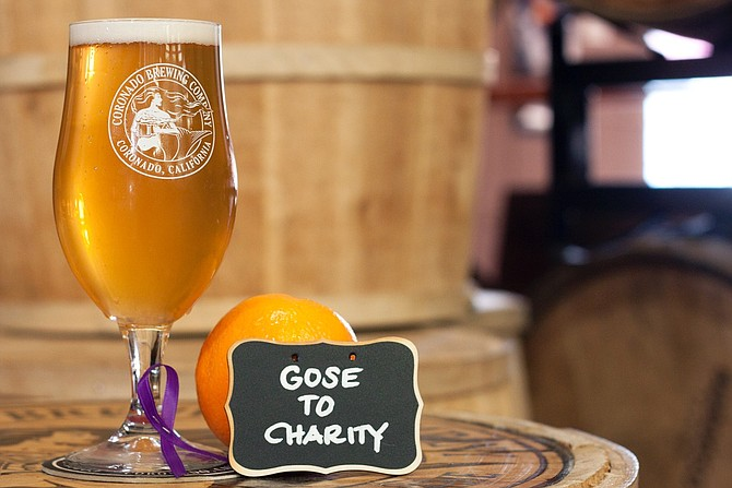 Coronado Brewing Company's Beer to the Rescue offering, Gose to Charity