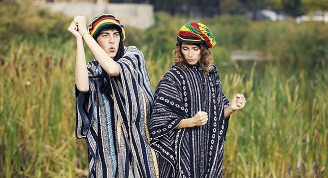 Ras Trent and Brandi skank in the beachgrass